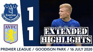 EVERTON 1-1 ASTON VILLA | EXTENDED PREMIER LEAGUE HIGHLIGHTS