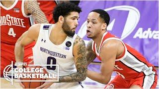 Northwestern Wildcats vs. No. 23 Ohio State Buckeyes [HIGHLIGHTS] | ESPN College Basketball