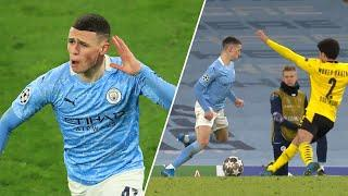 Phil Foden's technique looks so good in SLOW-MOTION | Champions League goals and skills