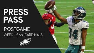 Eagles Players React to Loss to Cardinals | Eagles Press Pass