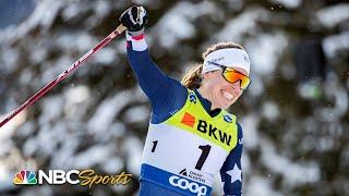 American Rosie Brennan takes first career FIS cross-country World Cup win at Davos | NBC Sports