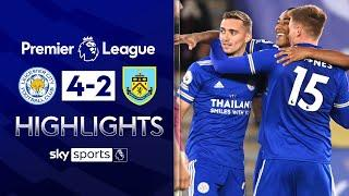 Leicester move top of the league with thrilling victory | Leicester 4-2 Burnley | EPL Highlights