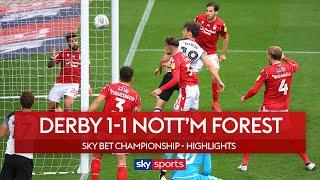 Waghorn sees red before Martin gets injury-time equaliser | Derby 1-1 Nott'm Forest | EFL Highlights