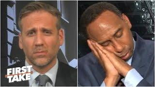 Stephen A. 'falls asleep' during Max's Kawhi take | First Take