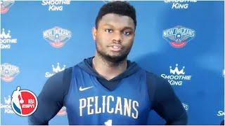 Zion Williamson says he will be a game-time decision vs. the Jazz | NBA on ESPN