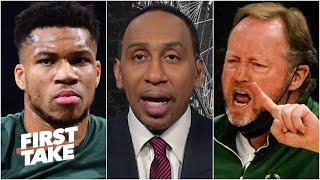 Stephen A. on the Bucks' struggles: Coach Mike Budenholzer's job could be in trouble | First Take