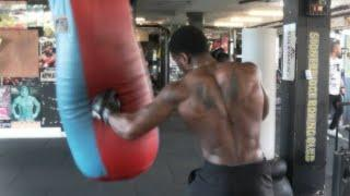 SHEER POWER! - MIKAEL LAWAL GOES HARD ON THE HEAVY BAG AT STONEBRIDGE BOXING CLUB