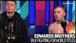 """""""I want the world titles at flyweight!"""" Sunny and Charlie Edwards react to another impressive win"""