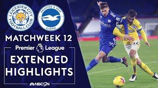 Leicester City v. Brighton | PREMIER LEAGUE HIGHLIGHTS | 12/13/2020 | NBC Sports