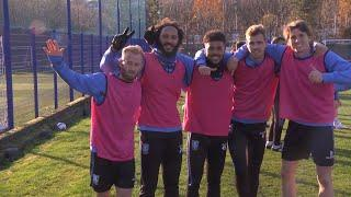 Positive vibes at Middlewood! The boys are upbeat ahead of Stoke test