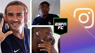 Antoine Griezmann shows off his Football Manager success to Dembele & Mbappe | #Shorts | ESPN FC
