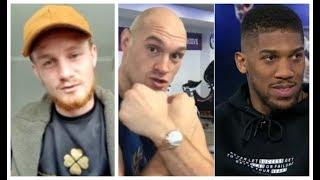 'TYSON FURY PUNCHES THE FACE OUT OF ANTHONY JOSHUA!' - ARCHIE SHARP / & CALLS FOR OSCAR VALDEZ FIGHT