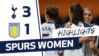 HIGHLIGHTS | SPURS WOMEN 3-1 ASTON VILLA | FAWSL