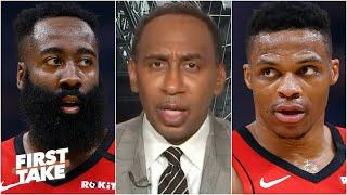 James Harden or Russell Westbrook: Who is more important to the Rockets? First Take debates