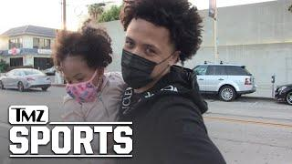 Future NBA #1 Pick Cade Cunningham Takes Daughter To Fancy L.A. Dinner | TMZ Sports