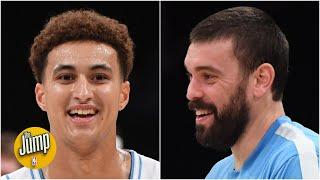 Kyle Kuzma is getting a HUGE boost from the presence of Marc Gasol - David Fizdale | The Jump