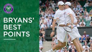 Bryan Brothers Great Points at Wimbledon | Incredible Volleys, Reflexes and Trick Shots