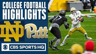 #3 Notre Dame vs Pittsburgh Highlights: The Fighting Irish remain undefeated | CBS Sports HQ