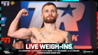 Full weigh-in results: Carl Frampton, Michael Conlan, Archie Sharp, Dennis McCann, Troy Williamson