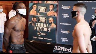 ABSOLUTE CRACKER! - MARK HEFFRON v DENZEL BENTLEY (OFFICIAL & FULL WEIGH-IN) / PROPER 50-50 SCRAP!