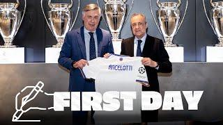 CARLO ANCELOTTI's FIRST DAY BACK at REAL MADRID