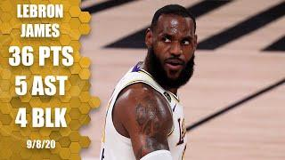 LeBron James' 36 points lead Lakers in Game 3 vs. Rockets | 2020 NBA Playoffs