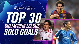 The GREATEST EVER Champions League solo goals | 10 minutes of footballing gold