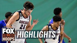 No. 1 Gonzaga picks up statement win, 102-90, over No. 6 Kansas | FOX COLLEGE HOOPS HIGHLIGHTS