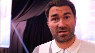 EDDIE HEARN REACTS TO SAUNDERS WIN, RESPONDS TO FRANK WARREN, NELSON SKY COMMENT, FURY FIGHT INVITE