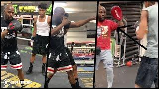 Floyd Mayweather confirms he's becoming a boxing coach and starts training his son and nephew!