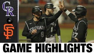 Offense backs Germán Márquez in 7-2 win over Giants | Rockies-Giants Game Highlights 9/21/20