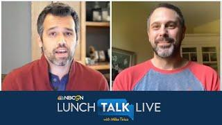 Thomas Sadoski ready for return of sports, Ravens and Lamar Jackson | Lunch Talk Live | NBC Sports