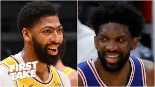 Joel Embiid or Anthony Davis: Who is the best big man in the NBA?   First Take