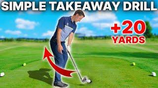 Simple Takeaway Drill - This golf swing takeaway drill was a GAME CHANGER for a recent student