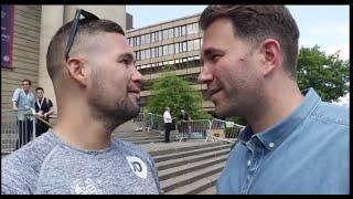 'WHO IS MOST LIKELY TO CHIN ME IN BOXING?' - EDDIE HEARN TO TONY BELLEW AS PAIR DISCUSS CANDIDATES