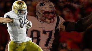 Top TE prospect Cole Kmet 'hopeful' he can replace Gronk on Patriots | SportsPulse