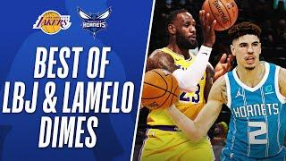 LeBron and LaMelo's  BEST Dimes this Season!