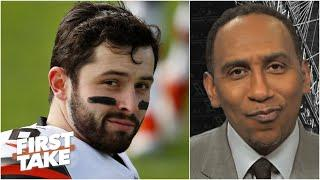 Stephen A. responds to Baker Mayfield's wife: 'Hell no' I'm not apologizing to Baker! | First Take