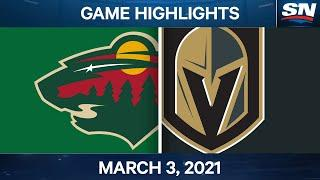 NHL Game Highlights | Wild vs. Golden Knights – March 03, 2021