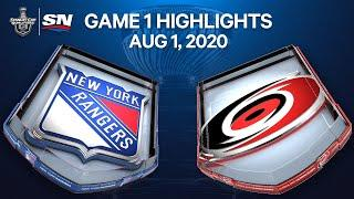 NHL Highlights | Rangers vs. Hurricanes , Game 1 – Aug. 1, 2020