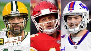 Aaron Rodgers, Patrick Mahomes or Josh Allen: Who deserves to win NFL MVP? | First Take