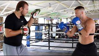 BEST FIGHTER IN THE UK? - JOSH TAYLOR DESTROYS THE PADS WITH BEN DAVISON IN SPAIN / SPEED & POWER