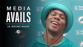 Jerome Baker discusses the end of OTA's | Miami Dolphins Media Avails