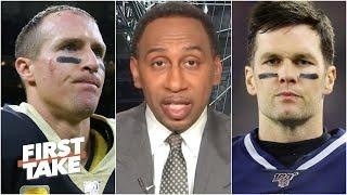 Stephen A. explains why Tom Brady is under more pressure than Drew Brees in Week 1 | First Take
