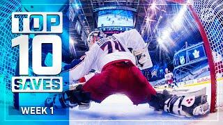 Top 10 Saves from Week 1 of the NHL's Return to Play