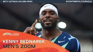 Kenny Bednarek storms to 200m victory in 19.93   Ostrava Golden Spike Continental Tour Gold