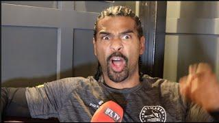 'WHY DID YOU CALL ME OUT?' -DAVID HAYE HITS BACK AT WHYTE COMMENTS, CHISORA LOSS, FURY, WILDER VIDEO