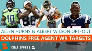 NFL News On Miami Dolphins' Albert Wilson & Allen Hurns Opt-Out + 10 Free Agent WR To Target In 2020