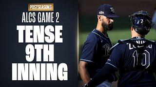 Astros threaten Rays in TENSE 9th inning of ALCS Game 2, try to comeback from 4-1 deficit!