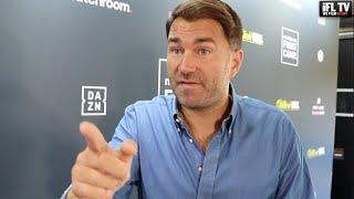 EDDIE HEARN RESPONDS TO FRANK WARREN'S OFFER & FIRES BACK AT ANDRE WARD / TALKS FURY, AJ, BROOK, GGG